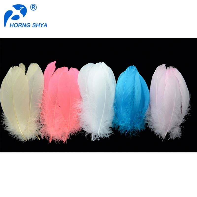 Wholesale Hot Sales Decorative Dyed bulk goose feathers White Goose Coquille Down Feathers Price goose feathers for sale