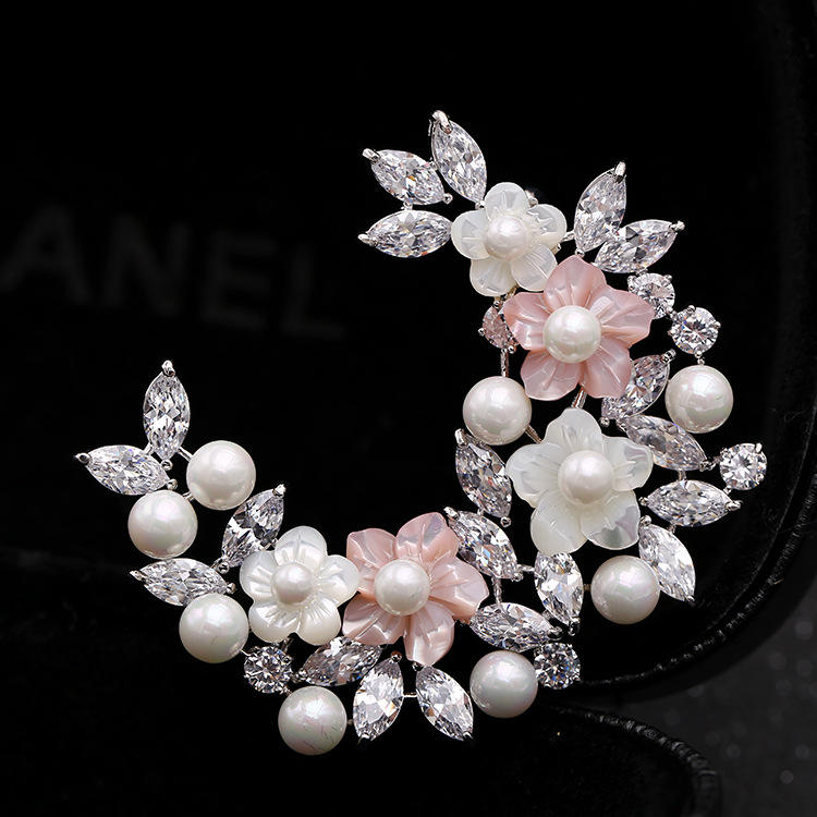 LY627 Balry Latest design high-grade ladies Pearl Brooch