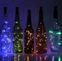 Solar Battery LED Bottle  Fairy Wine Cork String Light Champagne Bottle cork usb light wine led bottle lights