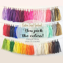DIY copy paper foil garland wedding decoration tassel fringe tassels
