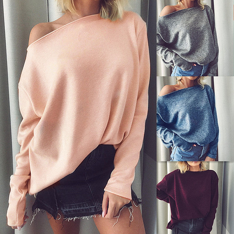 Groothandel 2018 mode sexy dames off shoulder knit Vrouwen Trui (C18451)