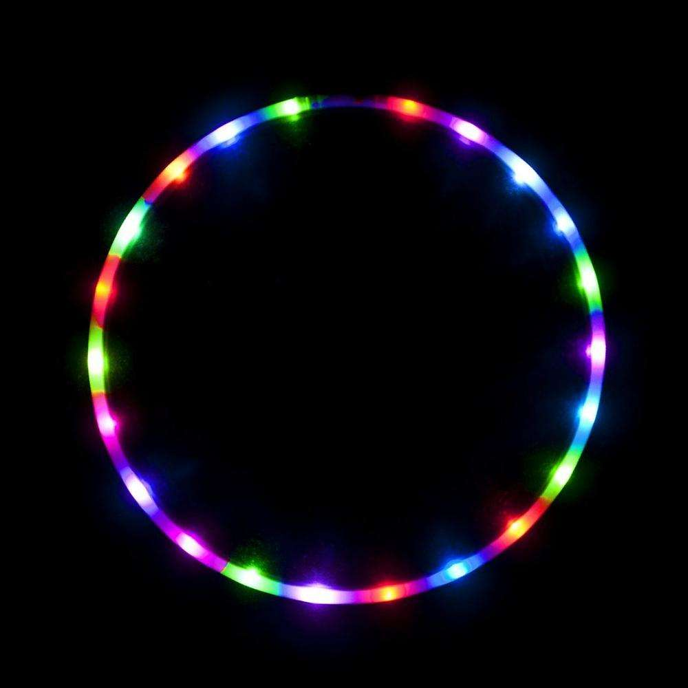Glow Massage Ball Cheap Hula Hoop , Collapsible Weighted LED Hula Hoop , Segmented rhythmic gymnastics Light Hula Hoop