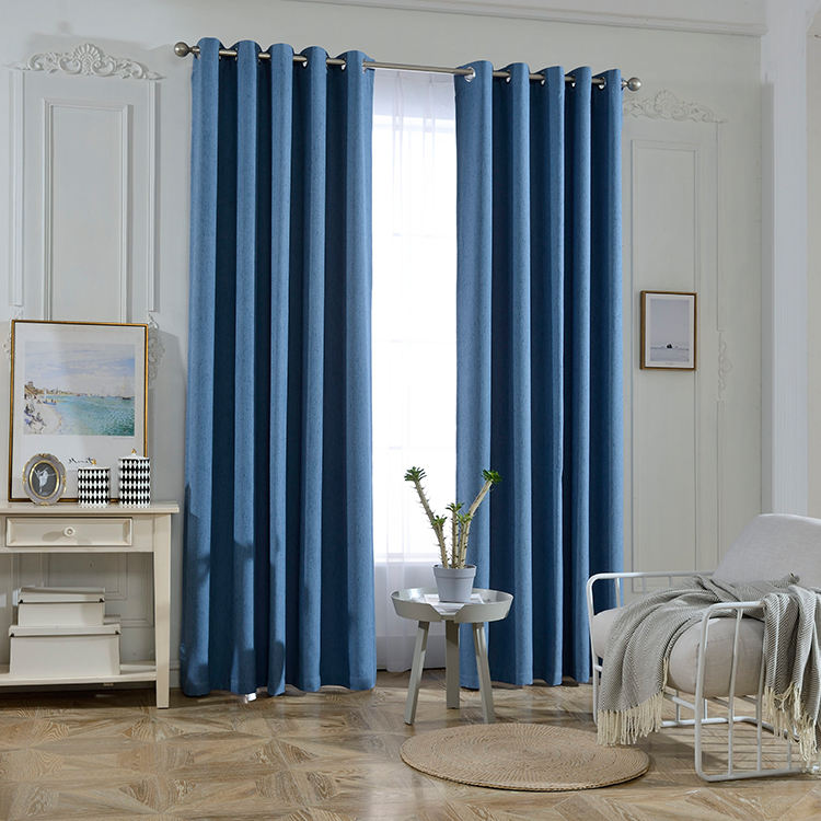 Polyester blue european style curtains,window curtain