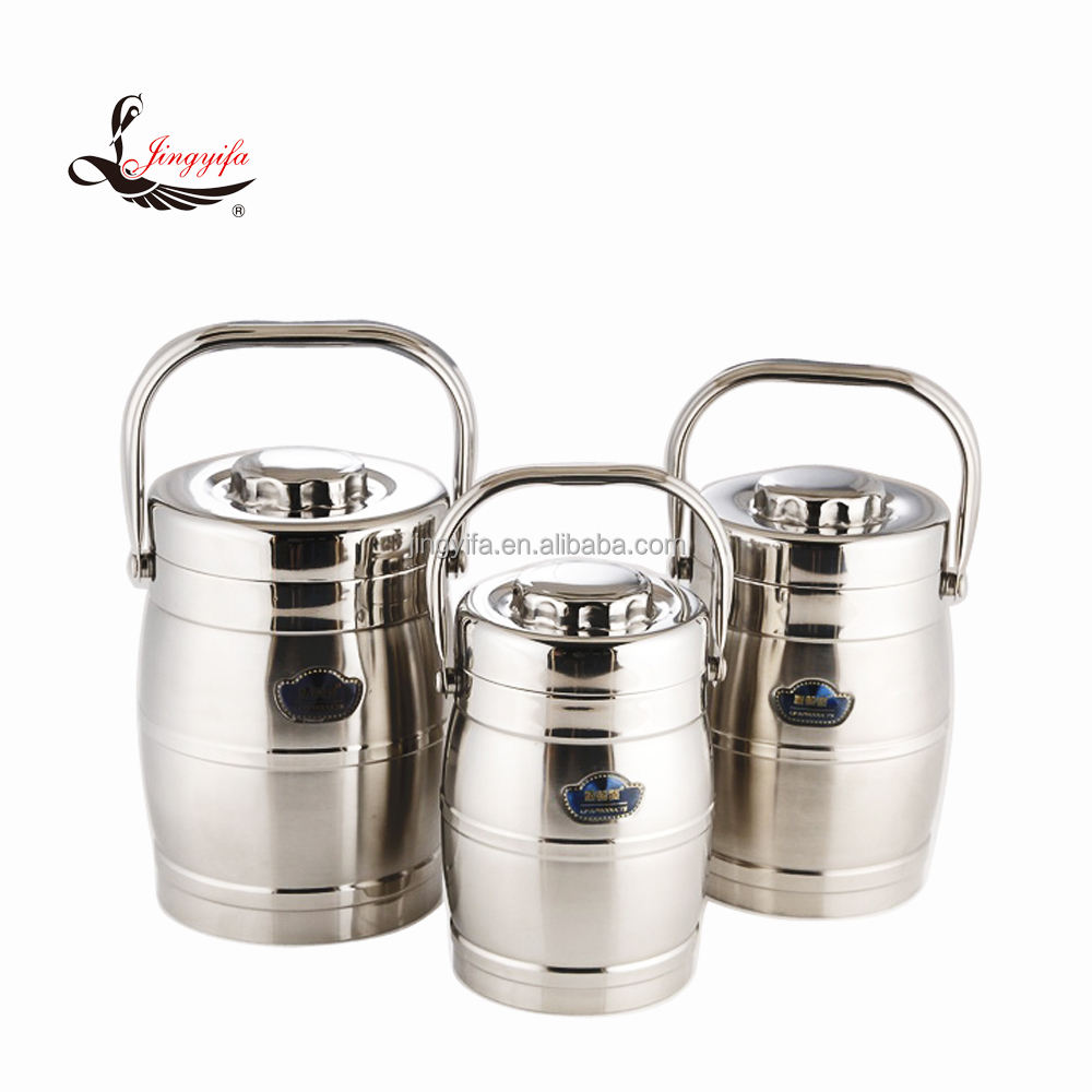 Hot sale Multi-function insulated food warmer pot / metal lunch box from 1.0L to 2.8L
