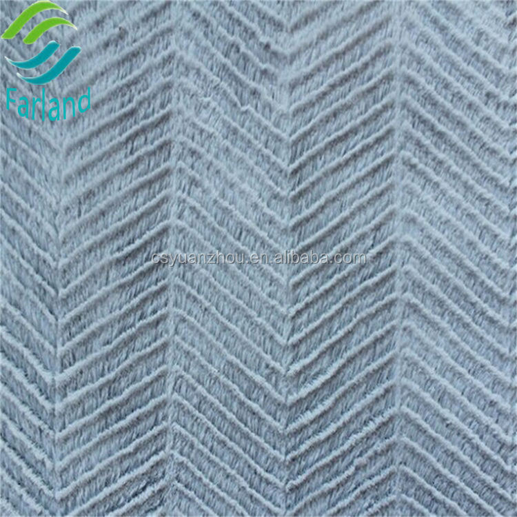 High quality wholesale weave pattern brushed back fleece fabric plush cloth