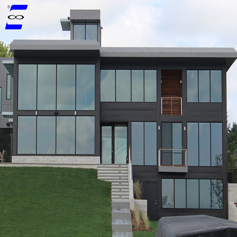 glass curtain wall for house