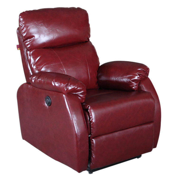 Modern Fabric Spa Pedicure Corner Suede Manual Single Luxury Reclining Recliner Sofa In Purple