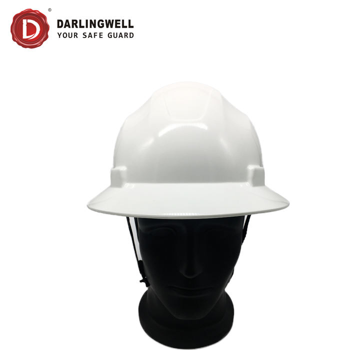 wholesale Hot selling USA style premium quality full brim sunshade hard hat for worker white safety helmet from China