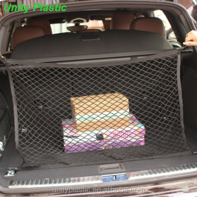 4 Hook vehicle trunk mesh cargo storage organizer,elastic car net