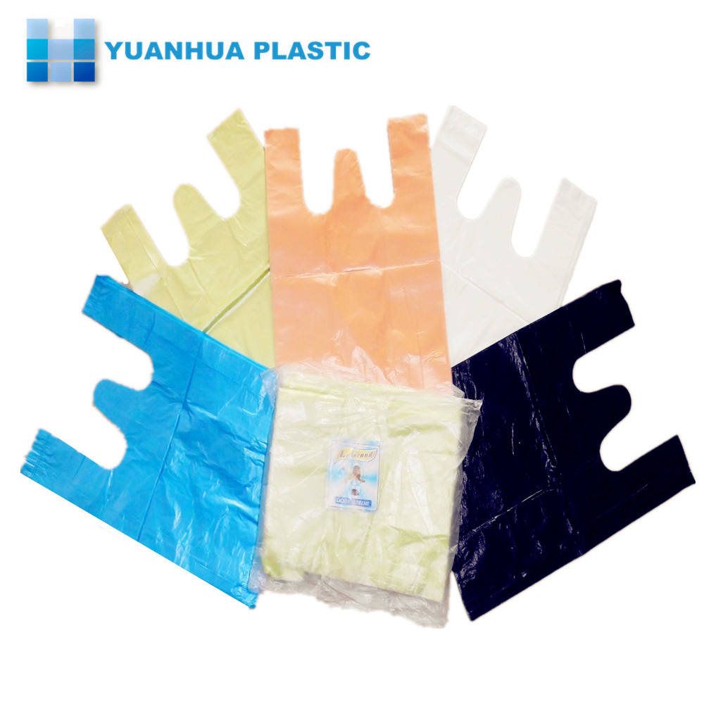 PE color shopping plastic t-shirt bags