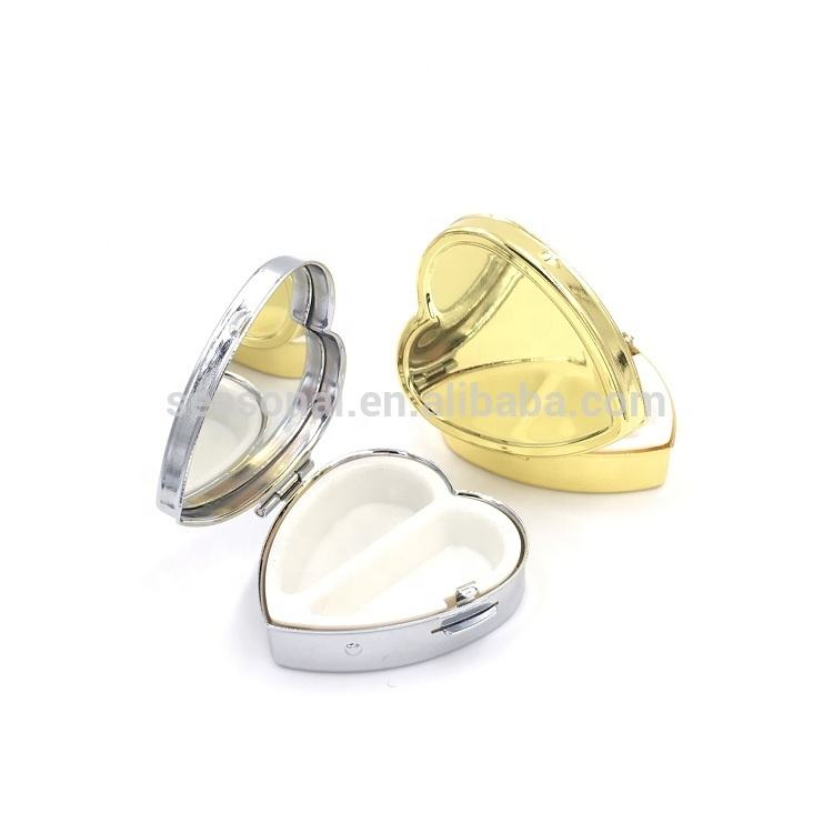 Heart shape metal small box for pills with customized logo SPC15023
