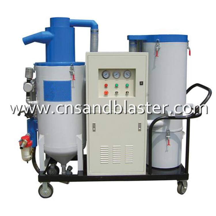 Dustless Sand Blaster With Vacuum System