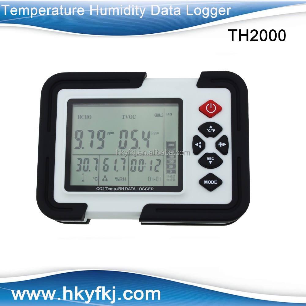 بيع الساخن مع سعر المصنعهايت دقة co2/ temp/ rh بيانات المسجل