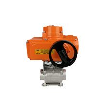 manufacturer wholesale general orange with hand wheel electric actuator and ball valve