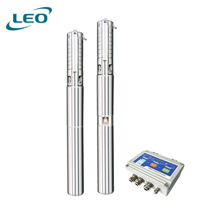 LEO AC/DC Solar Borehole Pump Heavy Duty Solar Submersible Water Pump