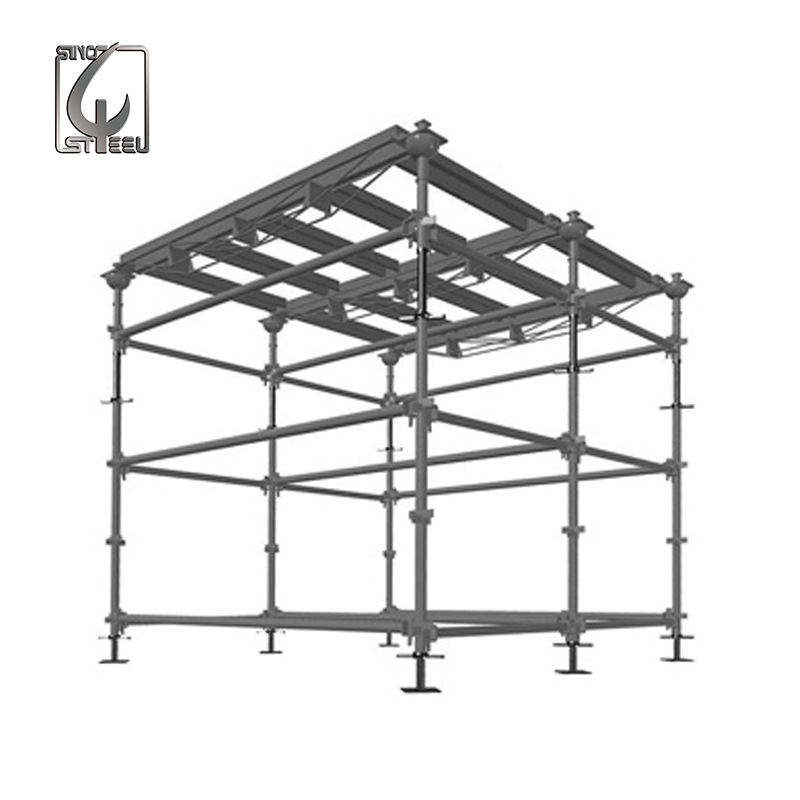 Hot Dip Galvanized Heavy Duty Stainless Steel Build Construction Quick Stage Kwikstage Scaffolding With Steel Plank For Sale