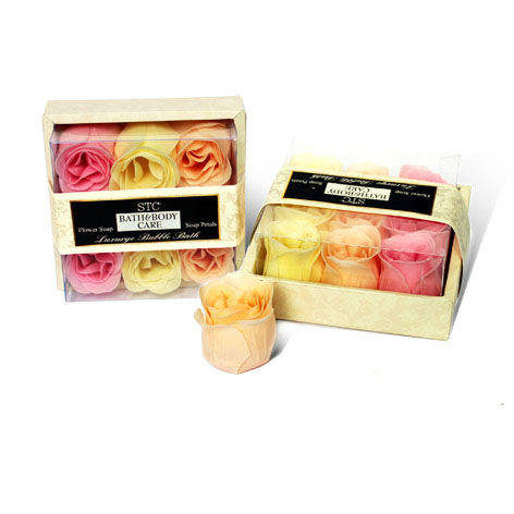 9 pcs rose shape soap rose flower bath gift set