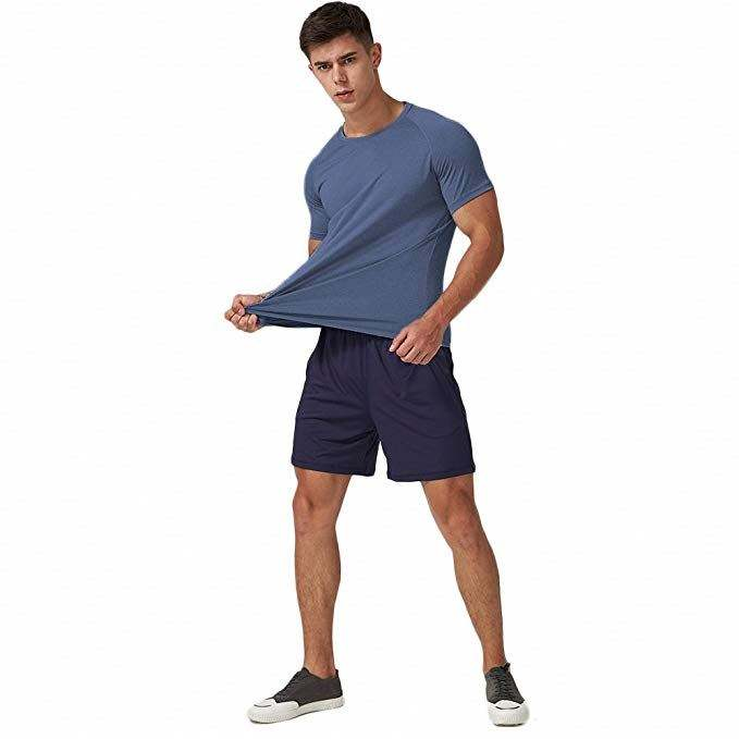 Men's Wholesale Custom Blank Short Sleeve Athletic Compression Sport Gym quick-dry T Shirts