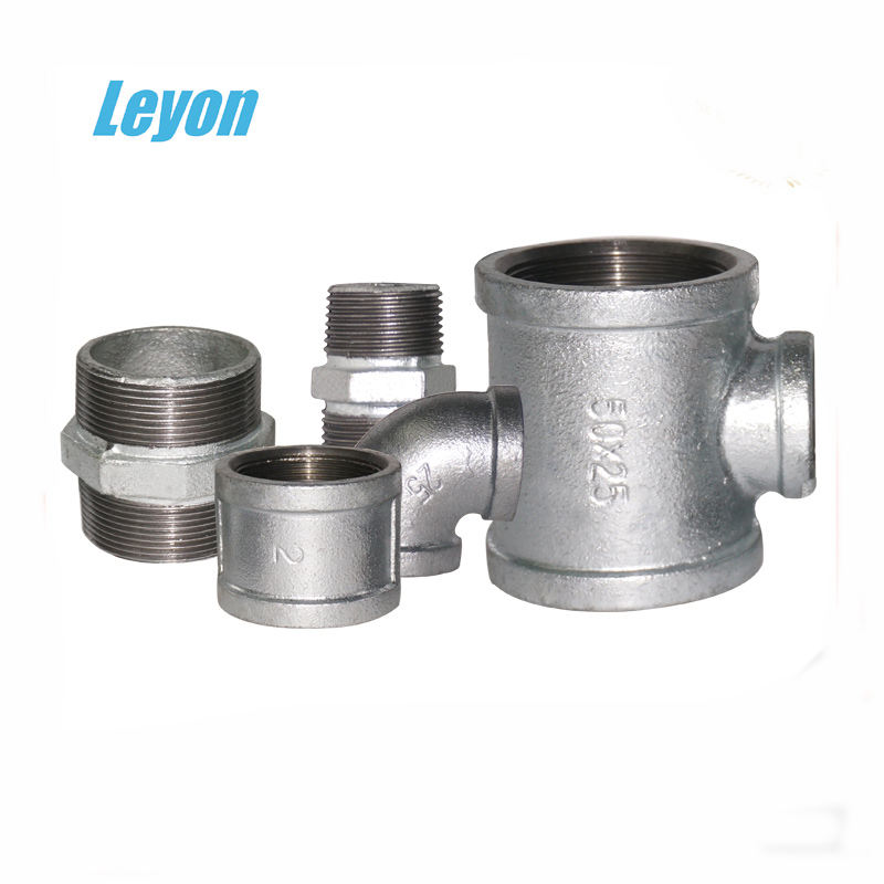 bathroom fittings names image BSI malleable iron pipe fittings galvanized fittings 90 degree elbow/ nipple/socket/reducing tee