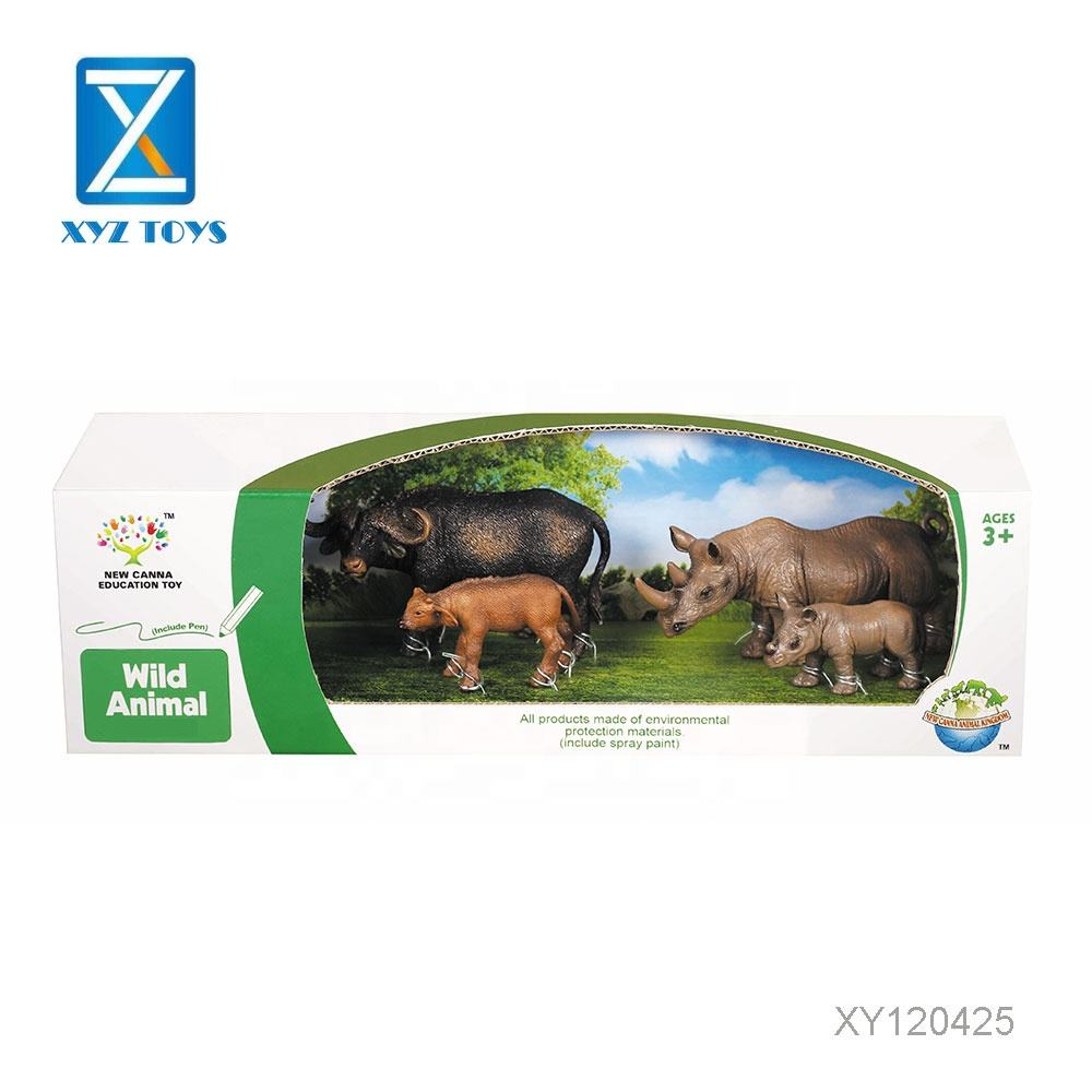 Mini lifelike zoo series model plastic toy animal set for kids