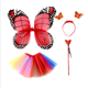 Hot sales halloween cosplay for party baby tutu dress carnival butterfly wings costume