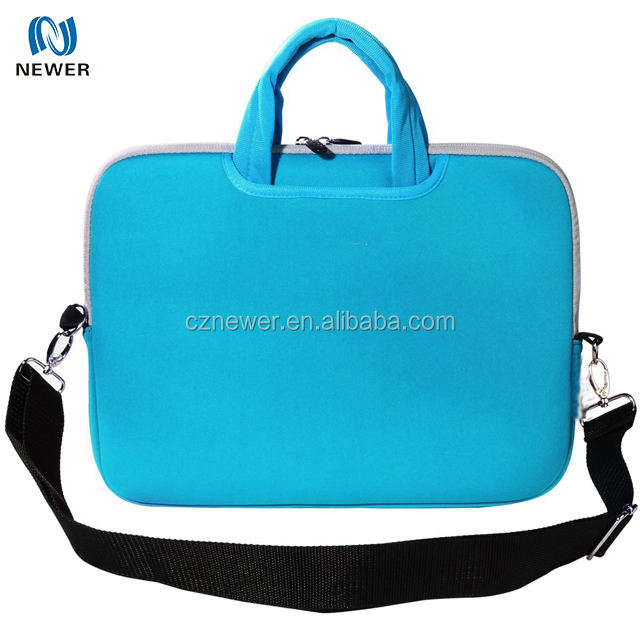 Colorful design Shockproof Neoprene No Smell Double zippers Laptop Bag for women