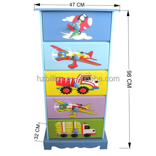 Kids Wooden Hand Painted Drawers Chest Children furniture storage cabinets chest of drawers for girls and boys