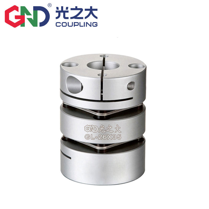 GL disc coupling aluminum alloy double diaphragm clamp series shaft couplings Diameter 34mm length 45mm flexible coupling