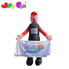 Cool man inflatable figure or mascot costumes for sale