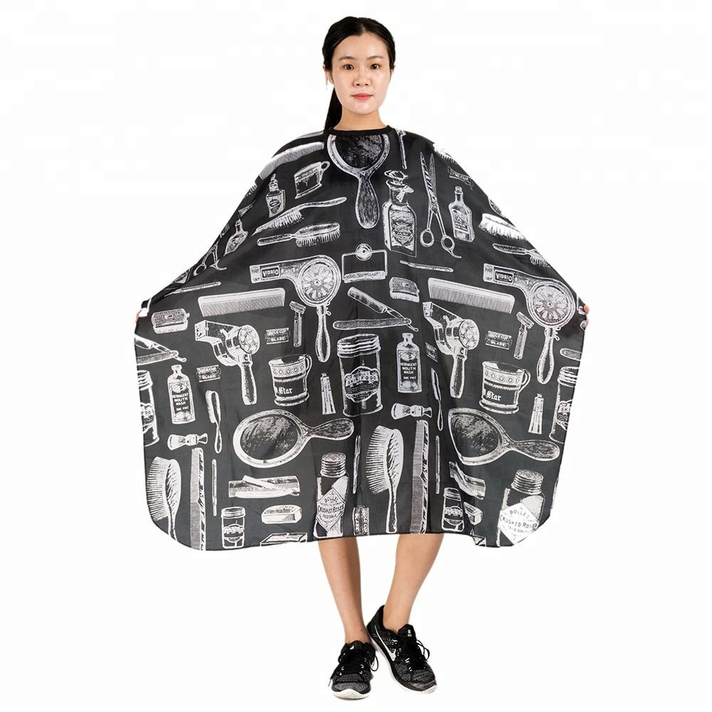 Wholesale Hair Cape Soft Cloth Custom Hair Salon Capes Nylon Hair
