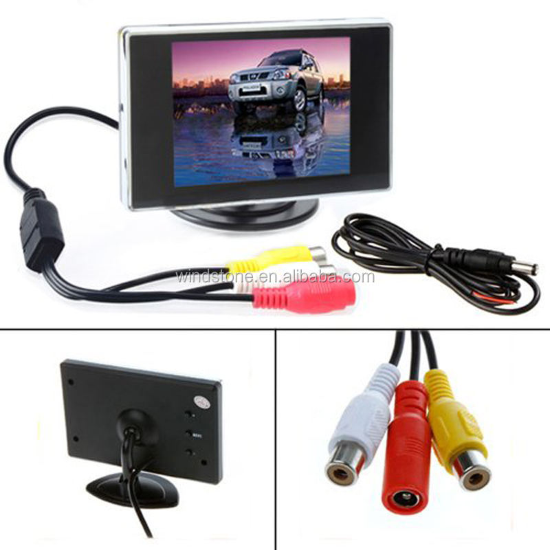 3.5 inch Reversing Monitor Rear View LCD Monitor for Car Back Up Camera Screen TFT Dashboard Mount