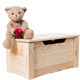 unfinished large wooden toy storage organizer wooden toy box wholesale