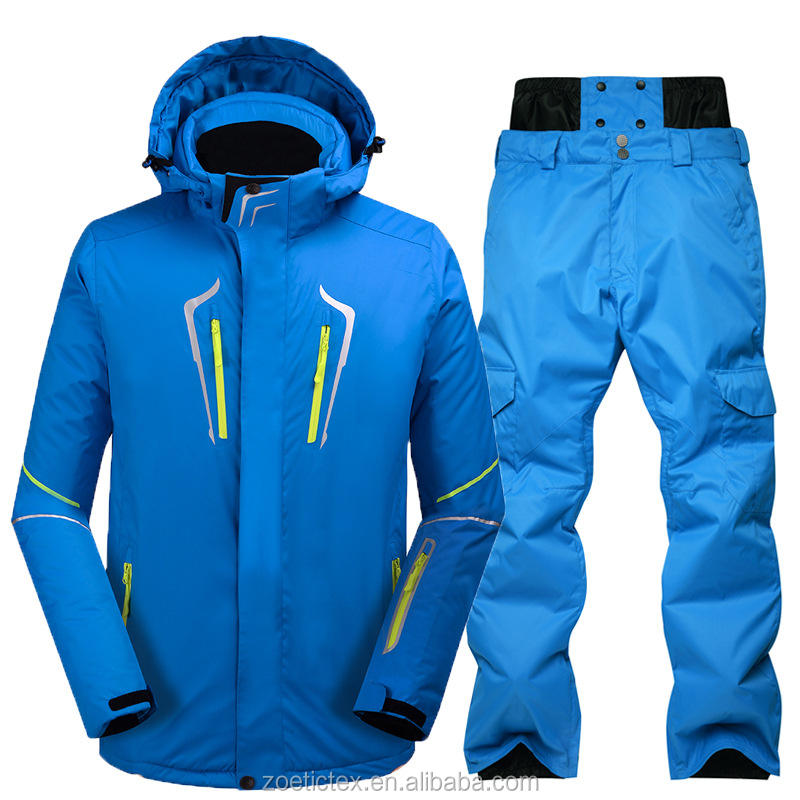 High quality hot sale winter outdoor sport waterproof men ski jacket two-piece ski & snow wear ski suit