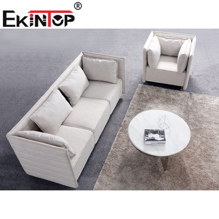 Ekintop import new model luxury italian latest l shaped modern designs corner executive office leather sofa set