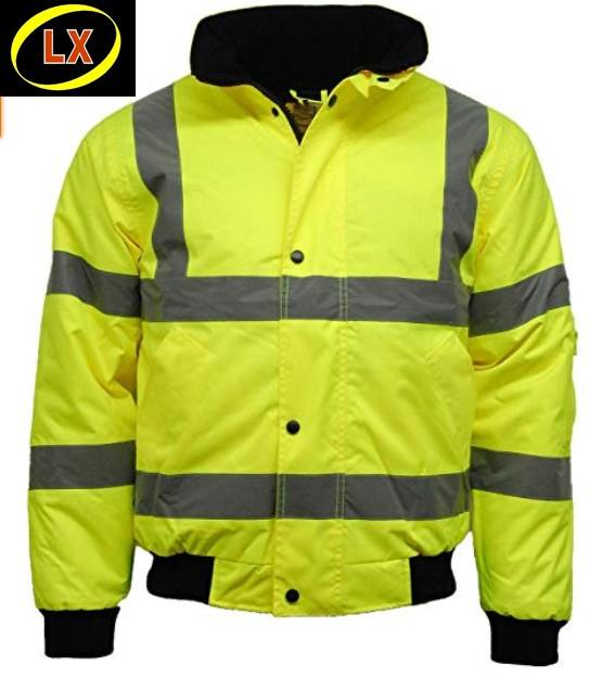 Hi Vis Bomber Jacket Waterproof Safety Work Coat