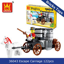 2018 Educational toys Wange 36043 pirates series escape carriage 122pcs building blocks bricks
