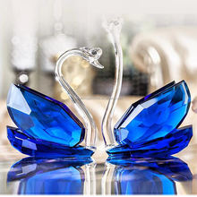 beautiful crystal swan wedding gifts