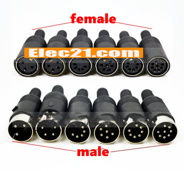 S terminal 3 / 4 / 5 / 6 / 7 / 8 pin male / female din plug socket connector for audio