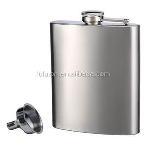 Ditembak Kaca & Corong Flask Stainless Steel 9 oz Hip Flask