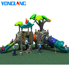 YL-T035 Cheap Price Outdoor Plastic Kids Playground Equipment With Slide For Sale