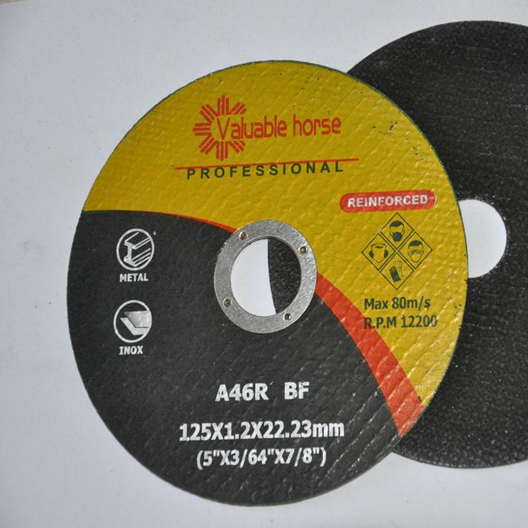 125X1.2X22.2mm 5 inch less price cutting disc for high level abrasive industry