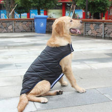 Wholesale Pet Winter Jacket Large Dog Outdoor Warm Waterproof Thicken Reflective Coat  For Labrador