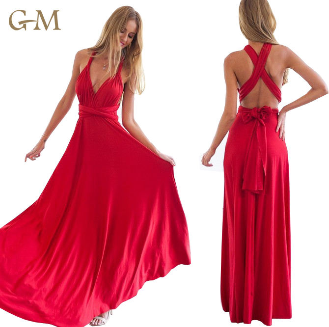 2019 Sexy Dresses Women Ladies Off Shoulder Bridal Party Wear Gown Long Evening Red Wedding Dress