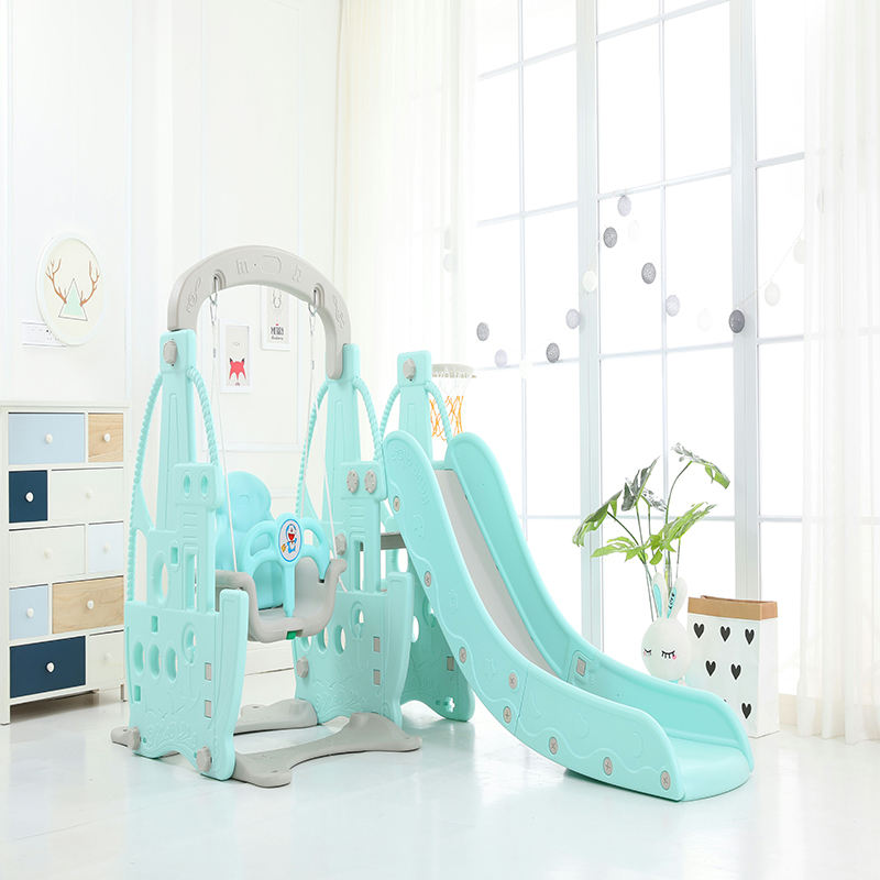 Plastic slide for children independent play indoor playground