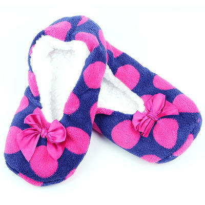 Women Coral soft sole household slippers and hosiery with silicone plastic outsole anti-slip warm floor shoes