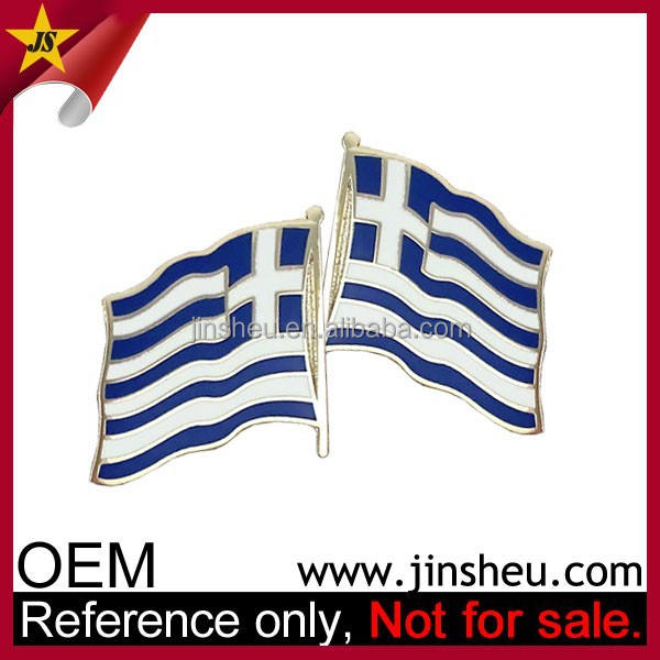 Cheap Metal Greek Flag Lapel Pin Badge Custom Greece Souvenirs