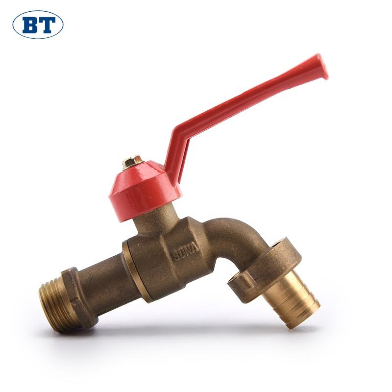 BT2007 Yuhuan brass low prices water ball bibcock taps indian supplier faucet