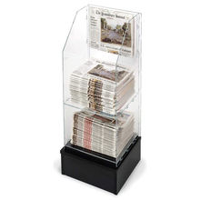 2018 Wholesales Acrylic Floor Standing Design Newspaper Display Rack