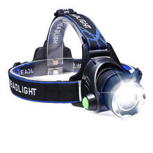 Ultra Bright Headlamp Flashlight,3 Modes High Lumen IPX4 Waterproof Zoomable Tactical Headlamp with 18650 USB Rechargeable