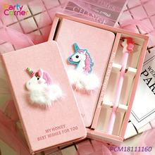 Unicorn Pen Notebook Set Office School Pen Supplies Birthday Gifts for Boys and Girls